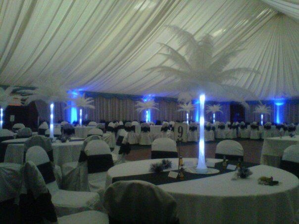 Wedding decorations Stirling rugby club